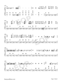 Love Struck Me Down-Divorce Lawyers Theme-Numbered-Musical-Notation-Preview-2
