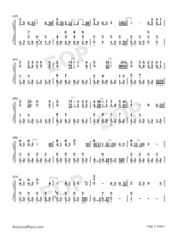 Love Struck Me Down-Divorce Lawyers Theme-Numbered-Musical-Notation-Preview-3