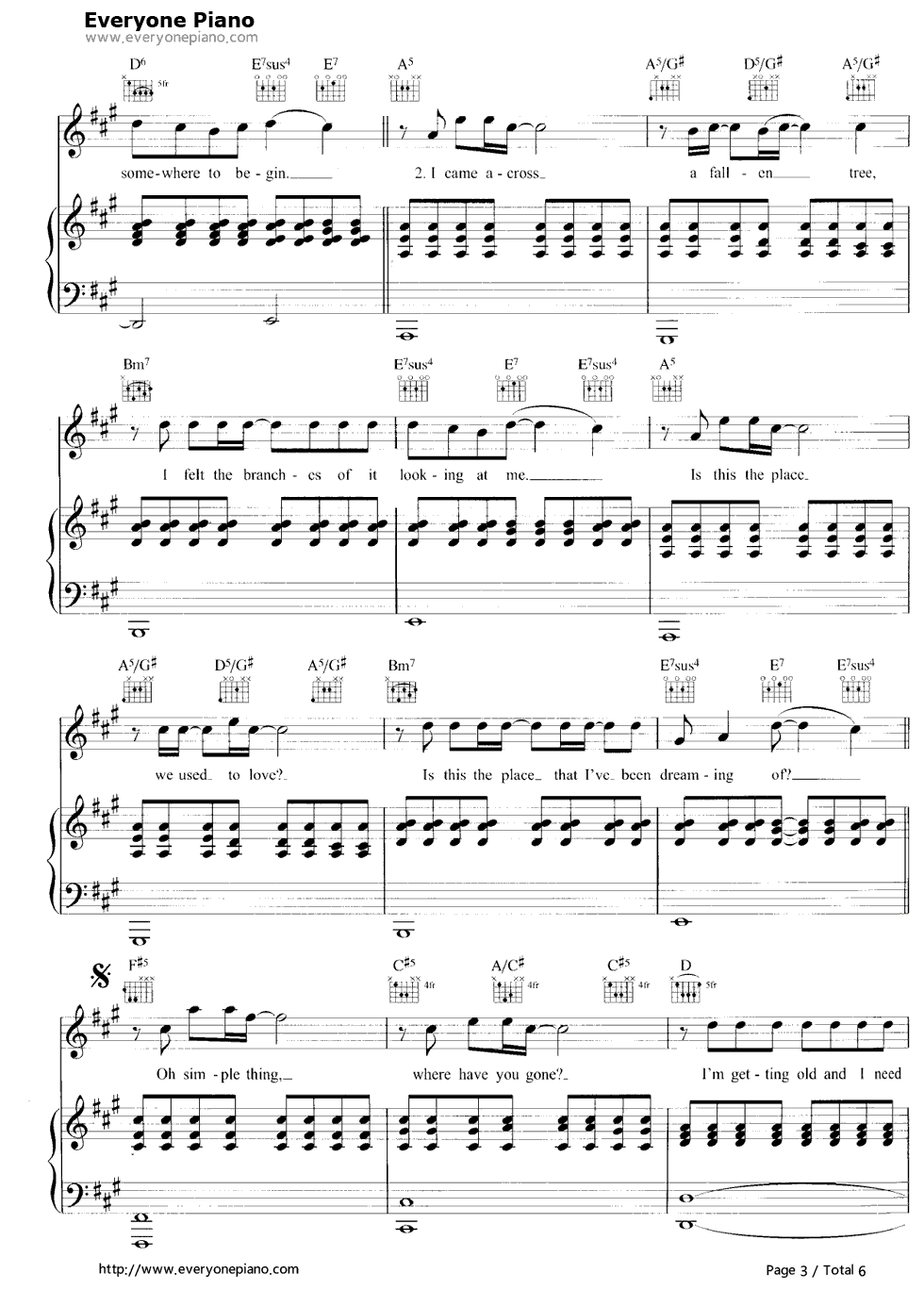 Somewhere only we know stave preview 3 free piano sheet music listen now print sheet somewhere only we know stave preview 3 hexwebz Images