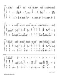 Niji-Kazunari Ninomiya-Numbered-Musical-Notation-Preview-2