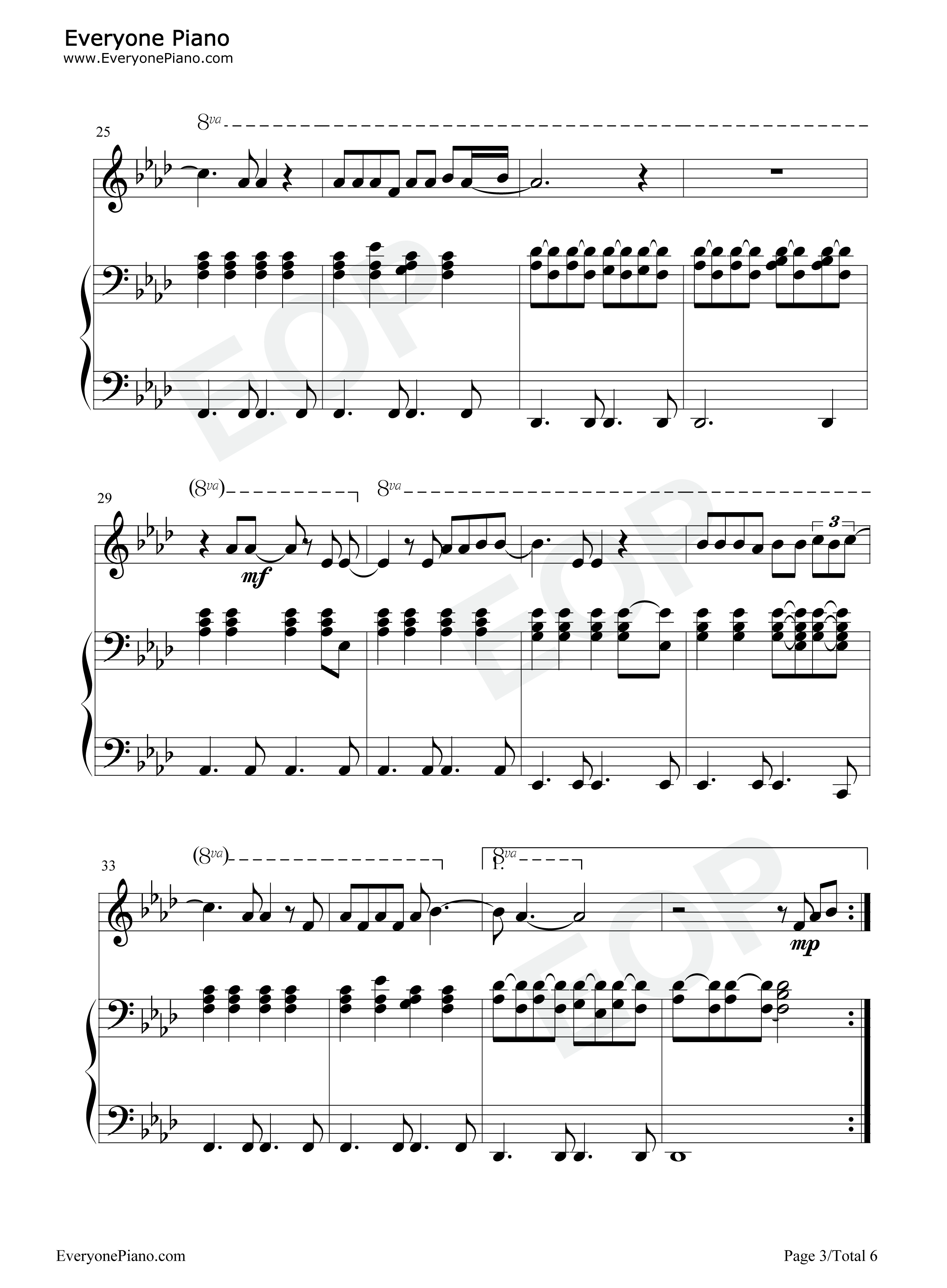 Run leona lewis stave preview 3 free piano sheet music piano chords listen now print sheet run leona lewis stave preview 3 hexwebz Images