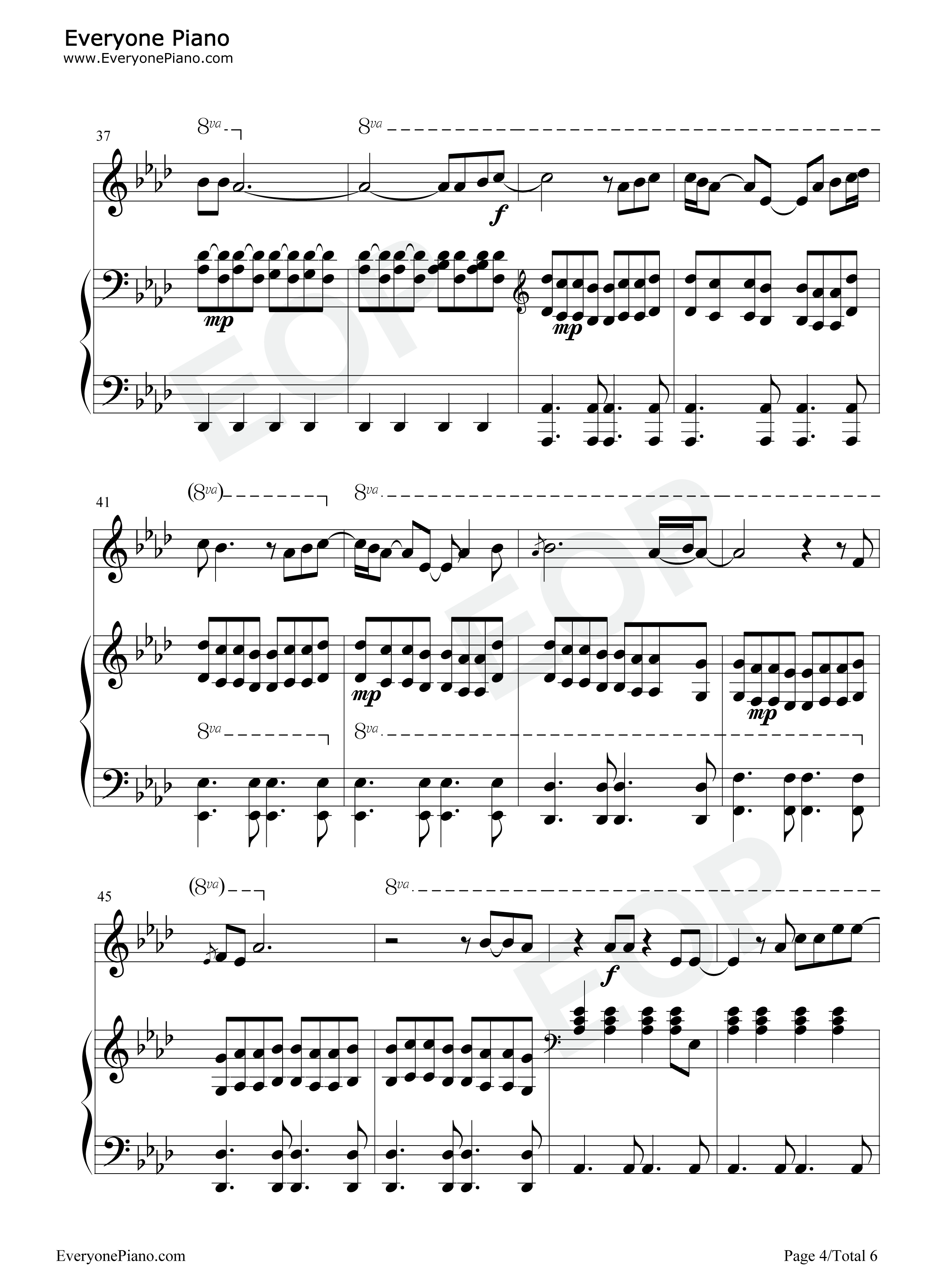 Run leona lewis stave preview 4 free piano sheet music piano chords listen now print sheet run leona lewis stave preview 4 hexwebz Images