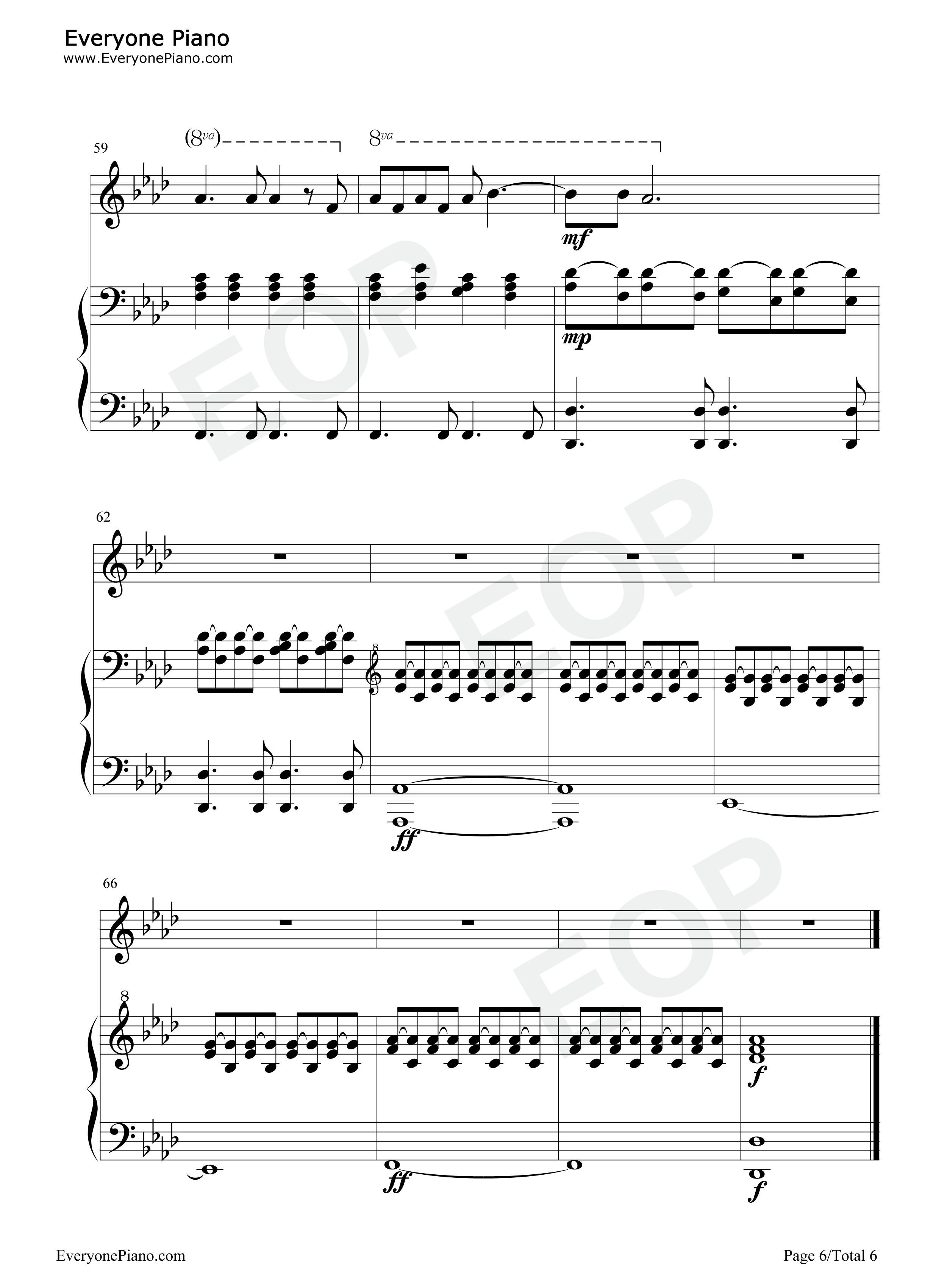 Run leona lewis stave preview 6 free piano sheet music piano chords listen now print sheet run leona lewis stave preview 6 hexwebz Images