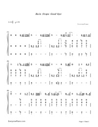 Rain Stops Good-bye-Hatsune Miku-Numbered-Musical-Notation-Preview-1