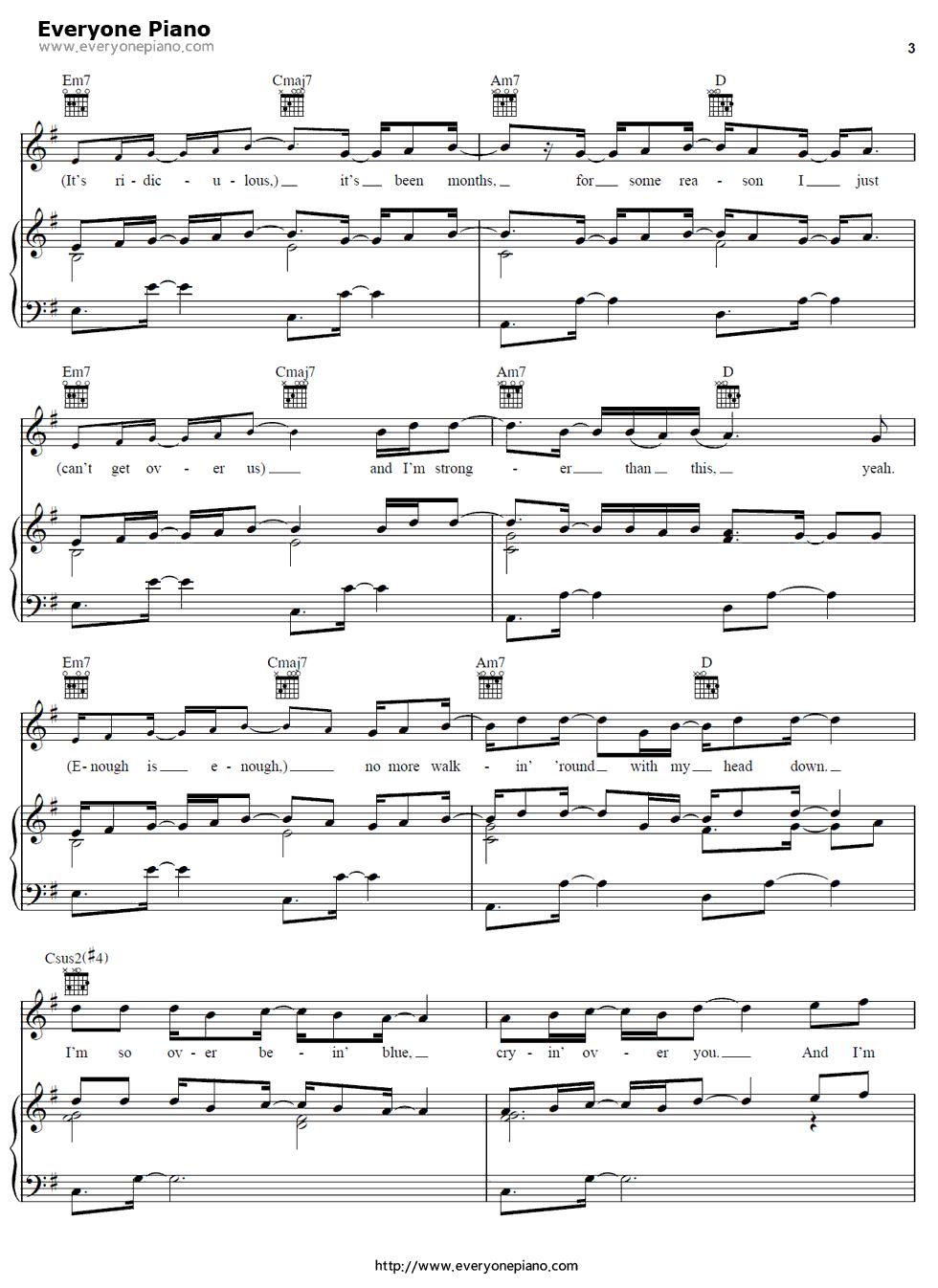 So sick ne yo free piano sheet music piano chords so sick ne yo stave preview 3 hexwebz Image collections