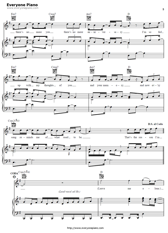 So sick ne yo free piano sheet music piano chords so sick ne yo stave preview 5 hexwebz Image collections