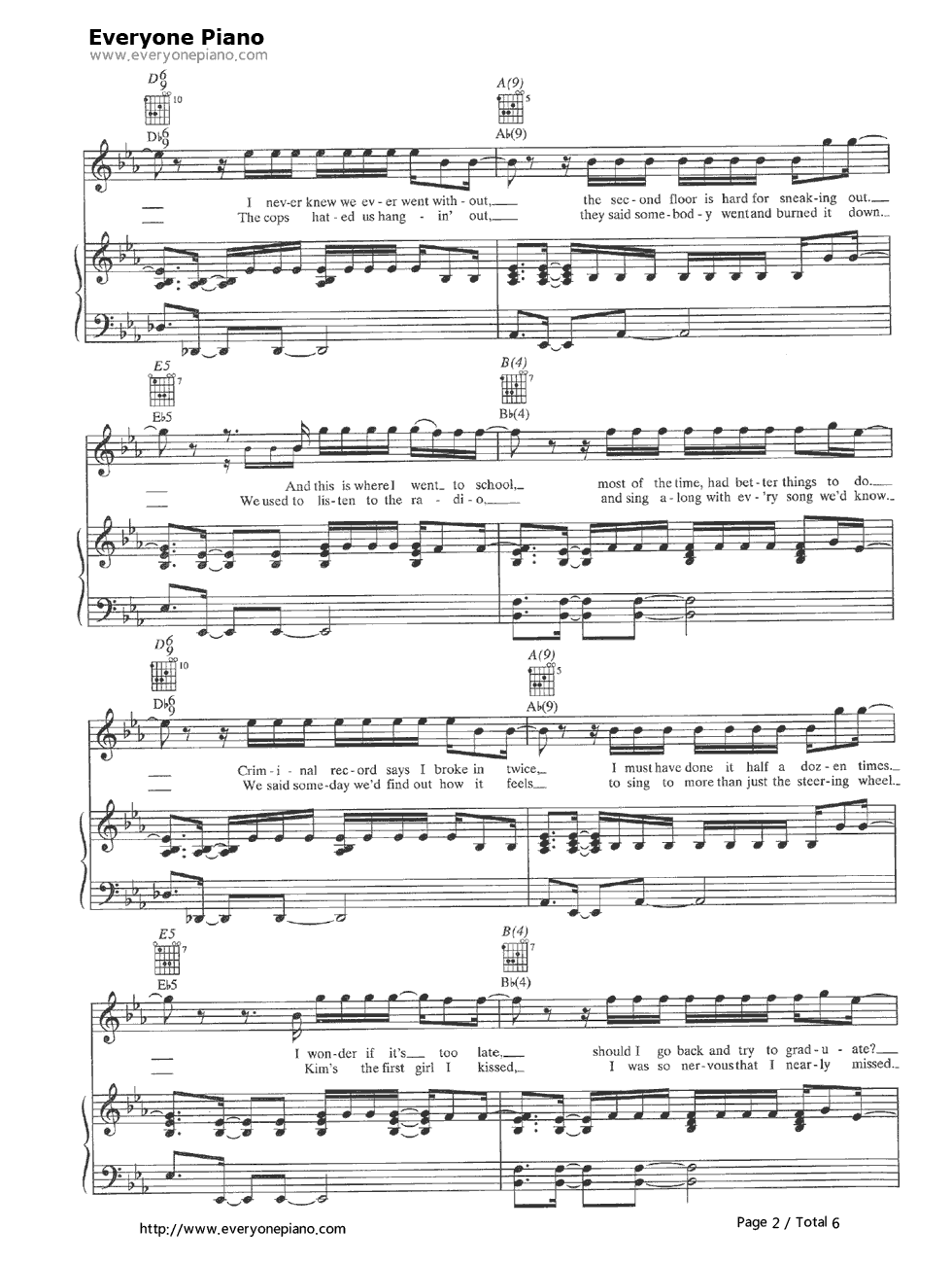 Photograph-Nickelback Stave Preview 2-Free Piano Sheet Music u0026 Piano Chords