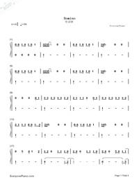Domino-Jessie J雙手簡譜預覽1