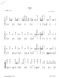 Home-Michael Buble雙手簡譜預覽1