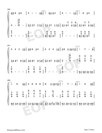 All of Me Voice+Piano-John Legend Numbered Musical Notation Preview 3