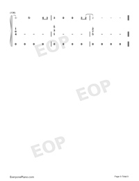 All of Me Voice+Piano-John Legend Numbered Musical Notation Preview 9