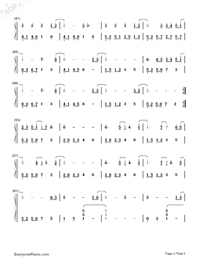 All of Me Full Version-John Legend Numbered Musical Notation Preview 3