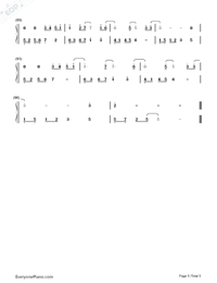 All of Me Full Version-John Legend Numbered Musical Notation Preview 5