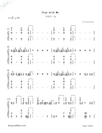 Stay with Me Full Version-Sam Smith-Numbered-Musical-Notation-Preview-1