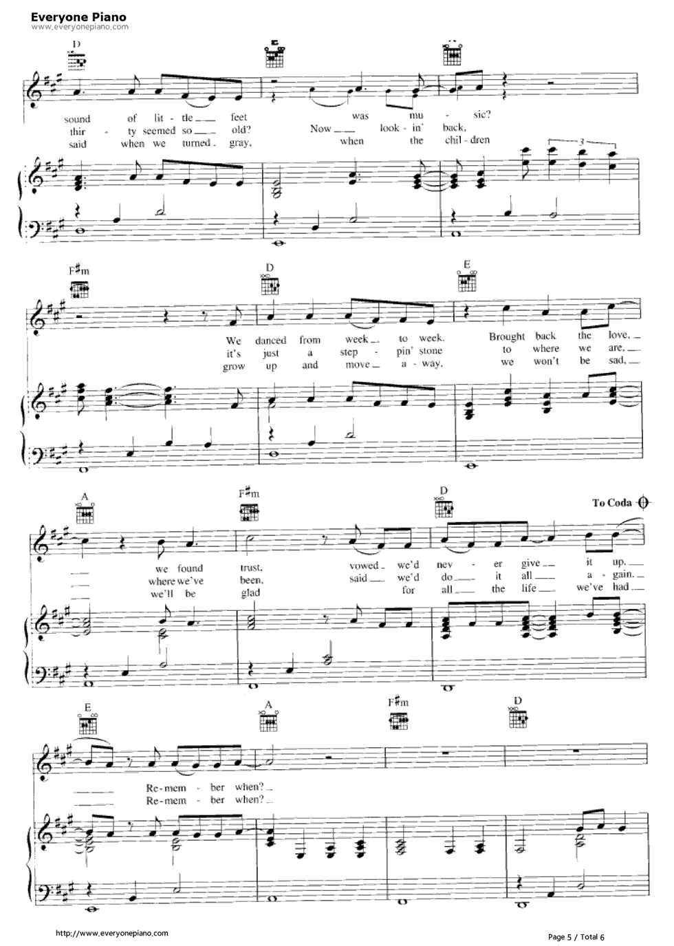 Remember when alan jackson stave preview 5 free piano sheet music listen now print sheet remember when alan jackson stave preview 5 hexwebz Image collections