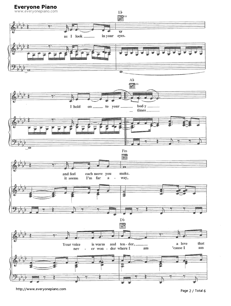 The power of love celine dion free piano sheet music piano chords the power of love celine dion stave preview 2 hexwebz Images