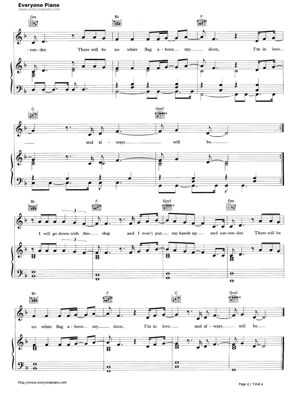 white flag chords