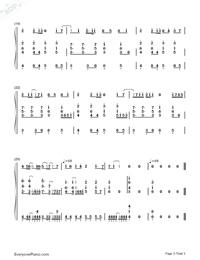 六等星の夜-NO.6 ED両手略譜プレビュー3