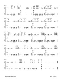 Animals-Maroon 5-Numbered-Musical-Notation-Preview-3