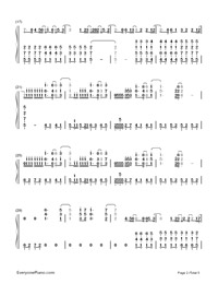 Superheroes-The Script-Numbered-Musical-Notation-Preview-2