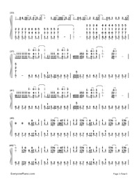 Superheroes-The Script-Numbered-Musical-Notation-Preview-3
