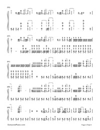 Superheroes-The Script-Numbered-Musical-Notation-Preview-4