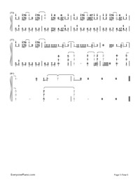 Superheroes-The Script-Numbered-Musical-Notation-Preview-5