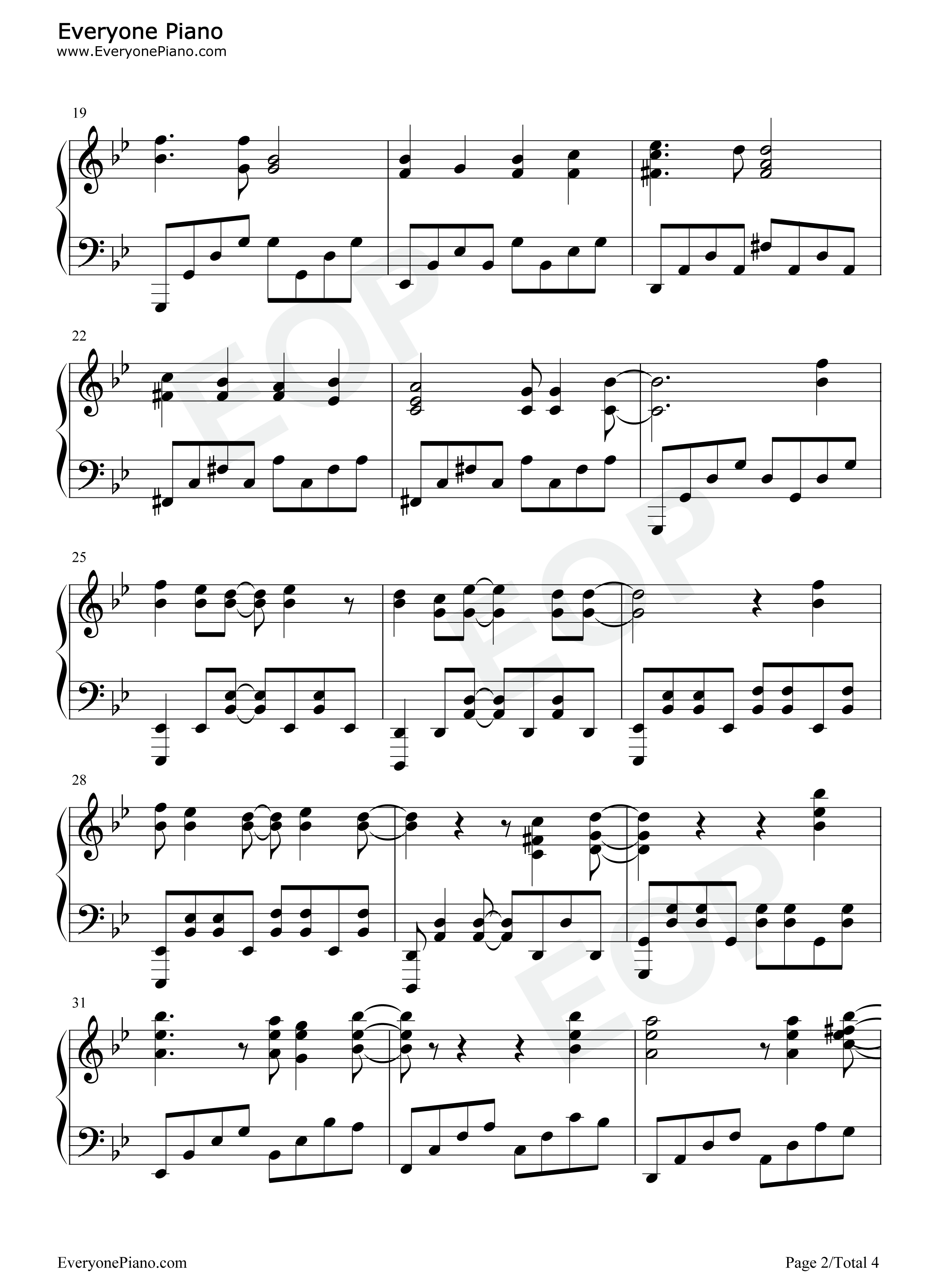 Papermoon-Soul Eater OP2 Stave Preview 2-Free Piano Sheet Music u0026 Piano Chords
