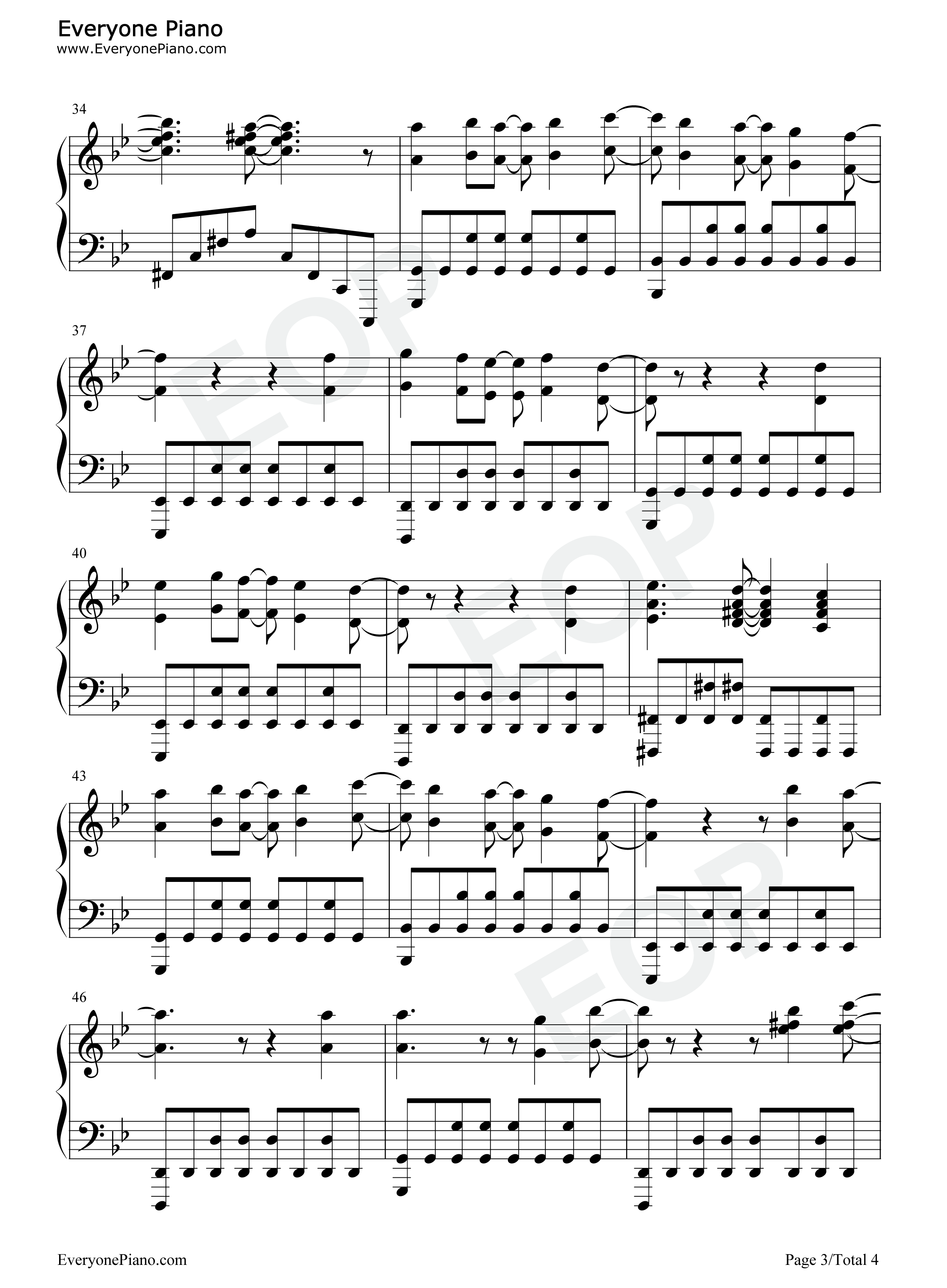 Papermoon-Soul Eater OP2 Stave Preview 3-Free Piano Sheet Music u0026 Piano Chords