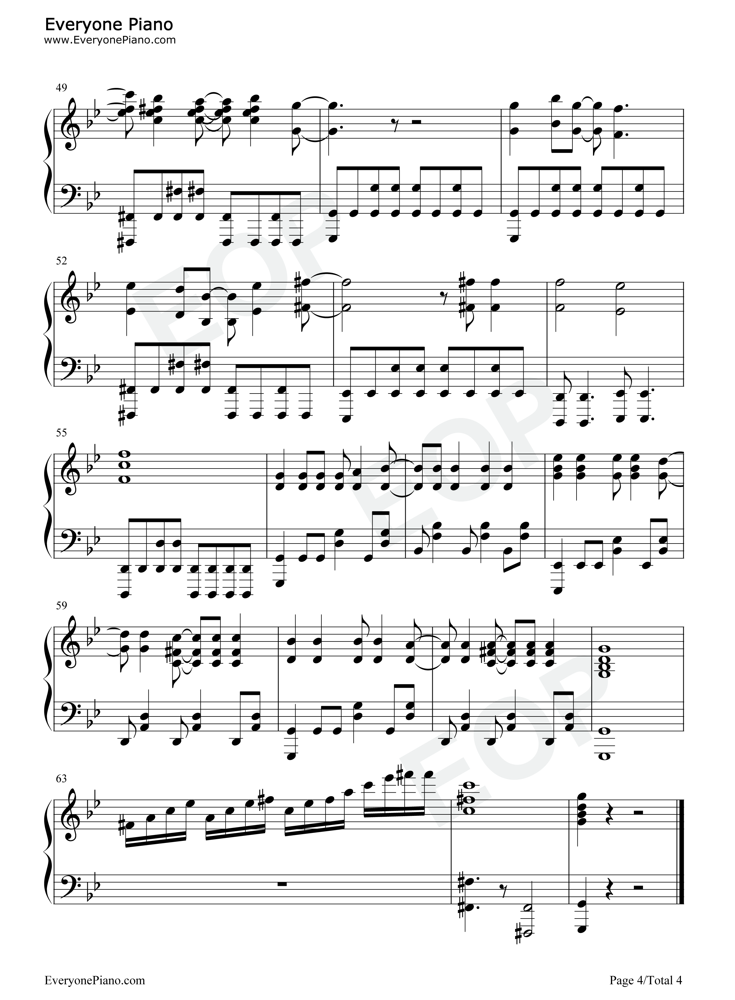 Papermoon-Soul Eater OP2 Stave Preview 4-Free Piano Sheet Music u0026 Piano Chords