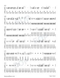 3月9日-1リットルの涙挿入歌両手略譜プレビュー2