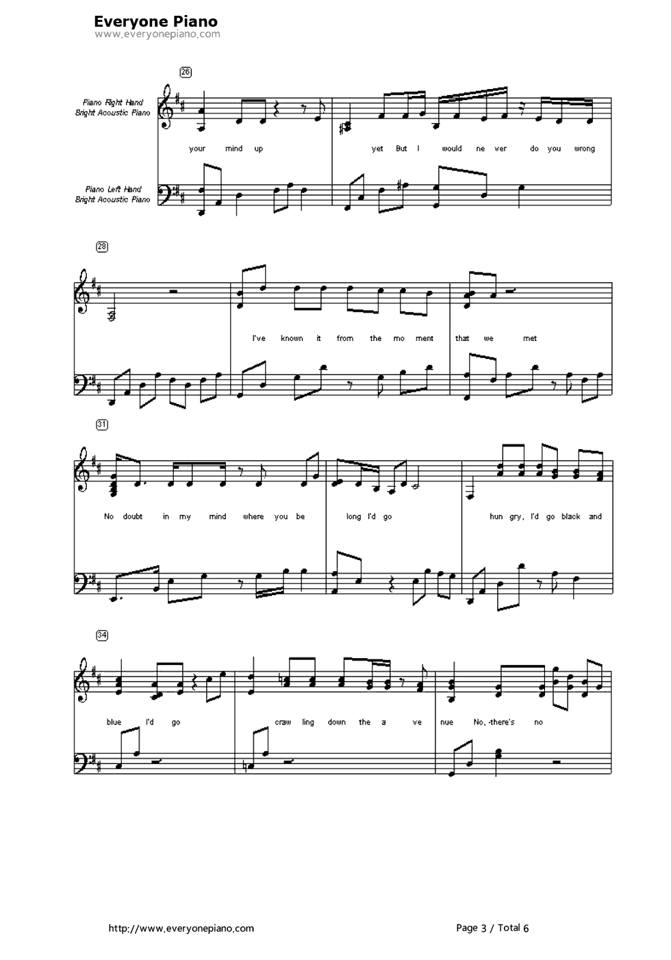 To make you feel my love garth brooks stave preview 3 free piano listen now print sheet to make you feel my love garth brooks stave preview 3 hexwebz Image collections