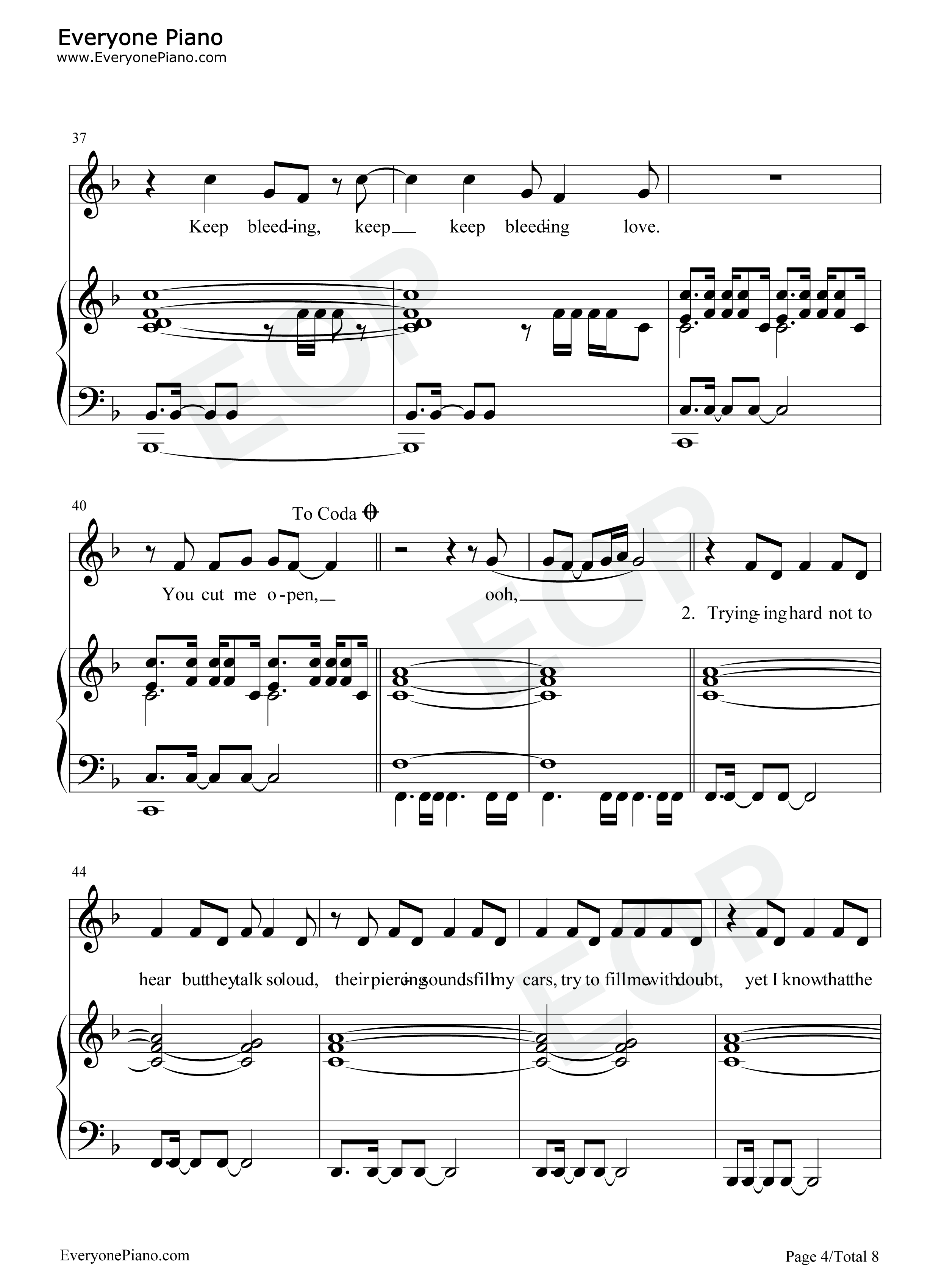 Leona Lewis - Bleeding Love (Chords) - Ultimate Guitar Archive