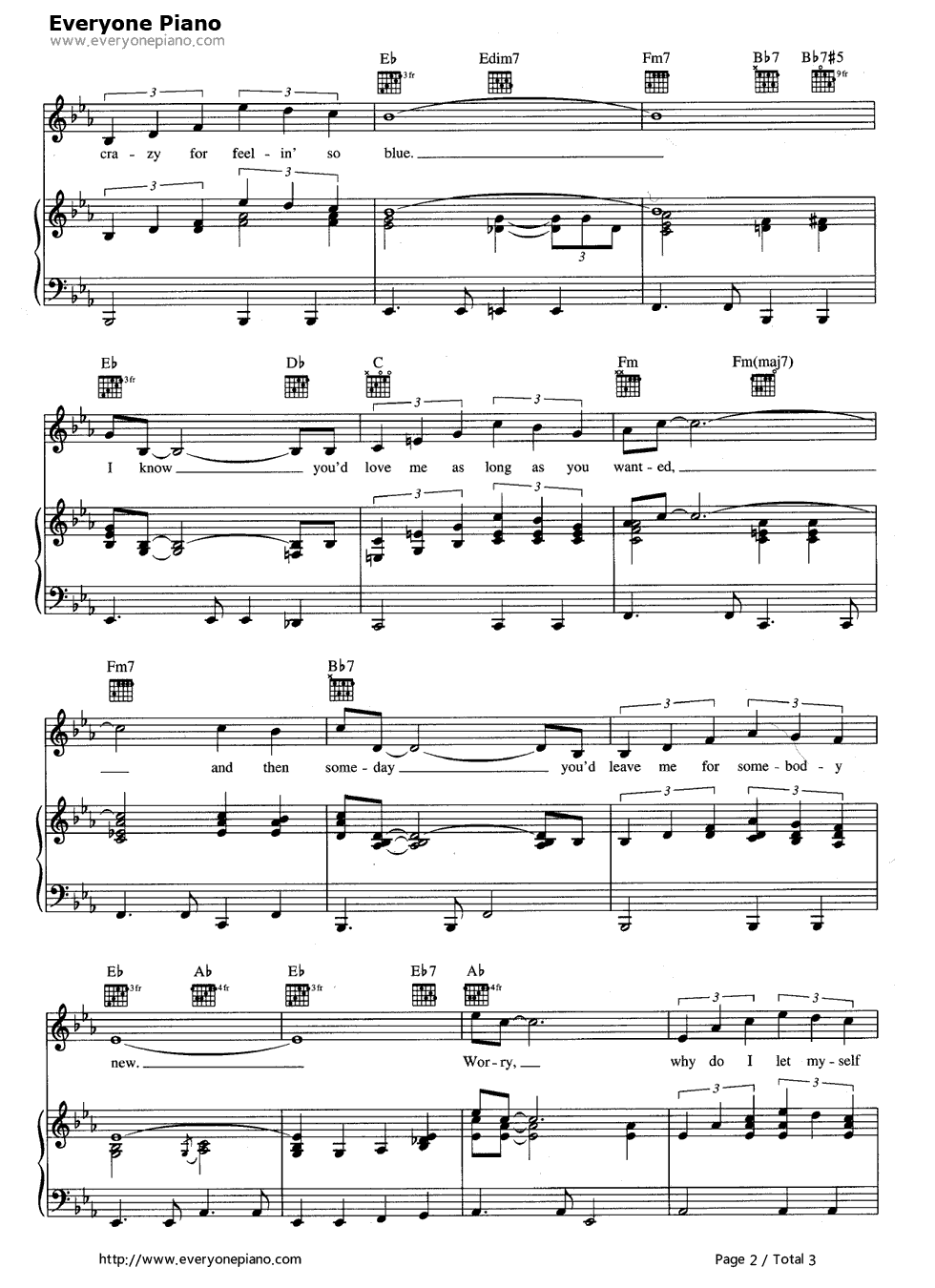 Crazy patsy cline stave preview 2 free piano sheet music piano listen now print sheet crazy patsy cline stave preview 2 hexwebz Image collections