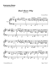 Don't Know Why-Norah Jones Stave Preview 1