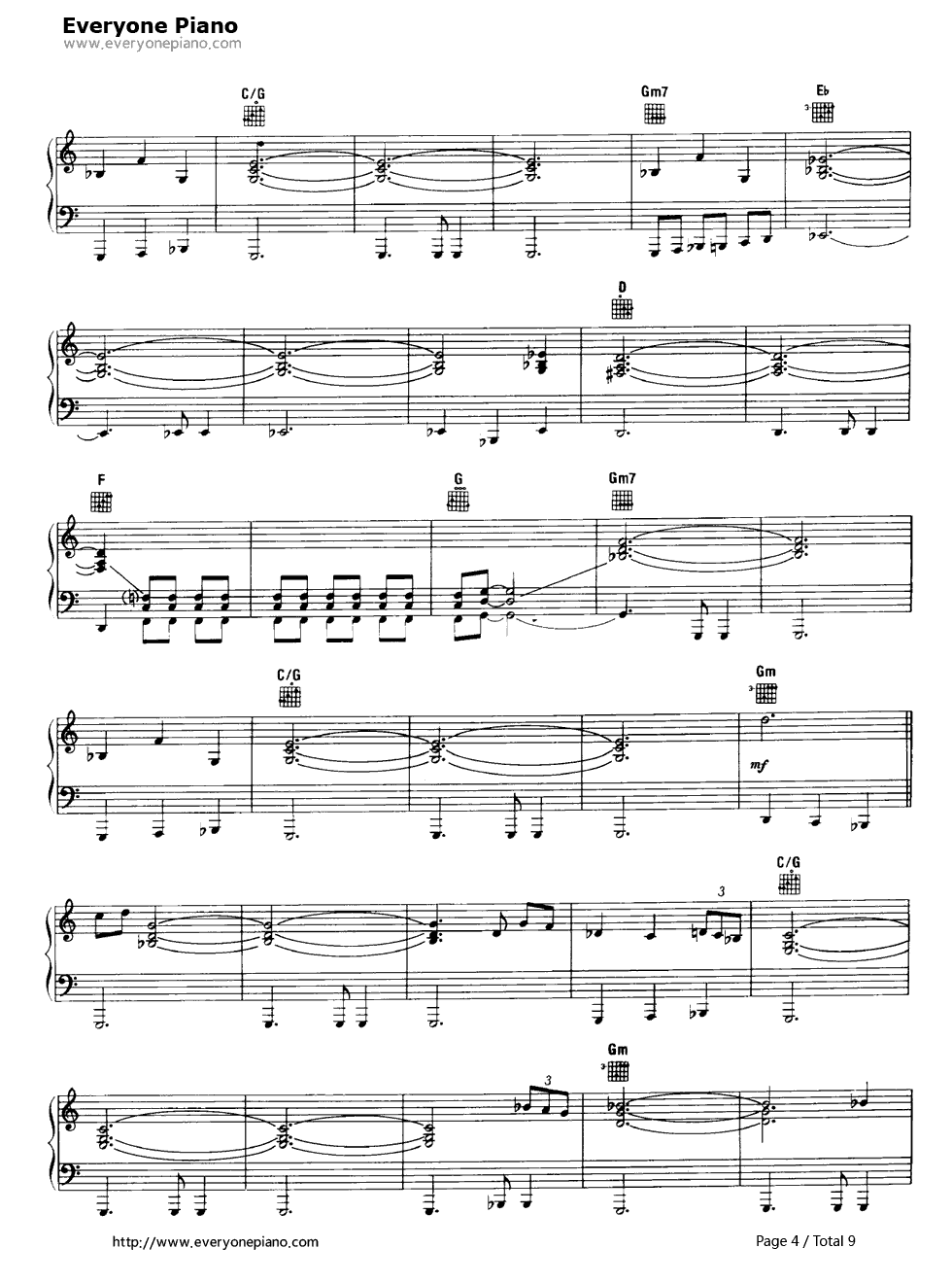 shine on you crazy diamond pink floyd stave preview 4 free piano sheet music piano chords. Black Bedroom Furniture Sets. Home Design Ideas