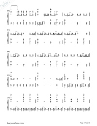 Amrita-Tsubasa Chronicle the Movie: The Princess of the Country of Birdcages ED Numbered Musical Notation Preview 4