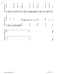 Amrita-Tsubasa Chronicle the Movie: The Princess of the Country of Birdcages ED Numbered Musical Notation Preview 5