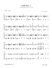 Senbonzakura Slow Version-Hatsune Miku-Numbered-Musical-Notation-Preview-1