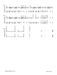 Senbonzakura Slow Version-Hatsune Miku-Numbered-Musical-Notation-Preview-6