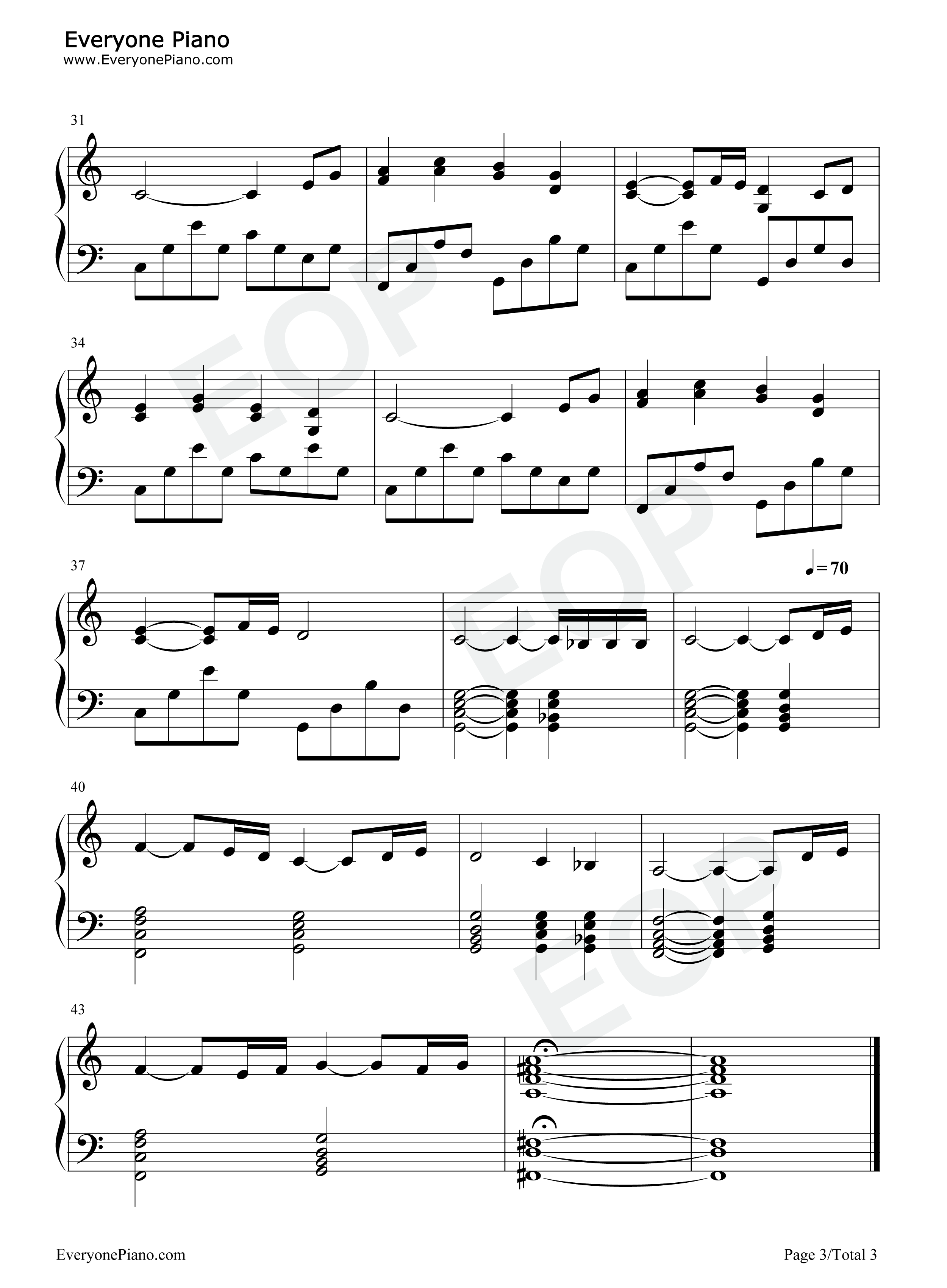 The Fellowship Of The Ring Theme Song Sheet Music