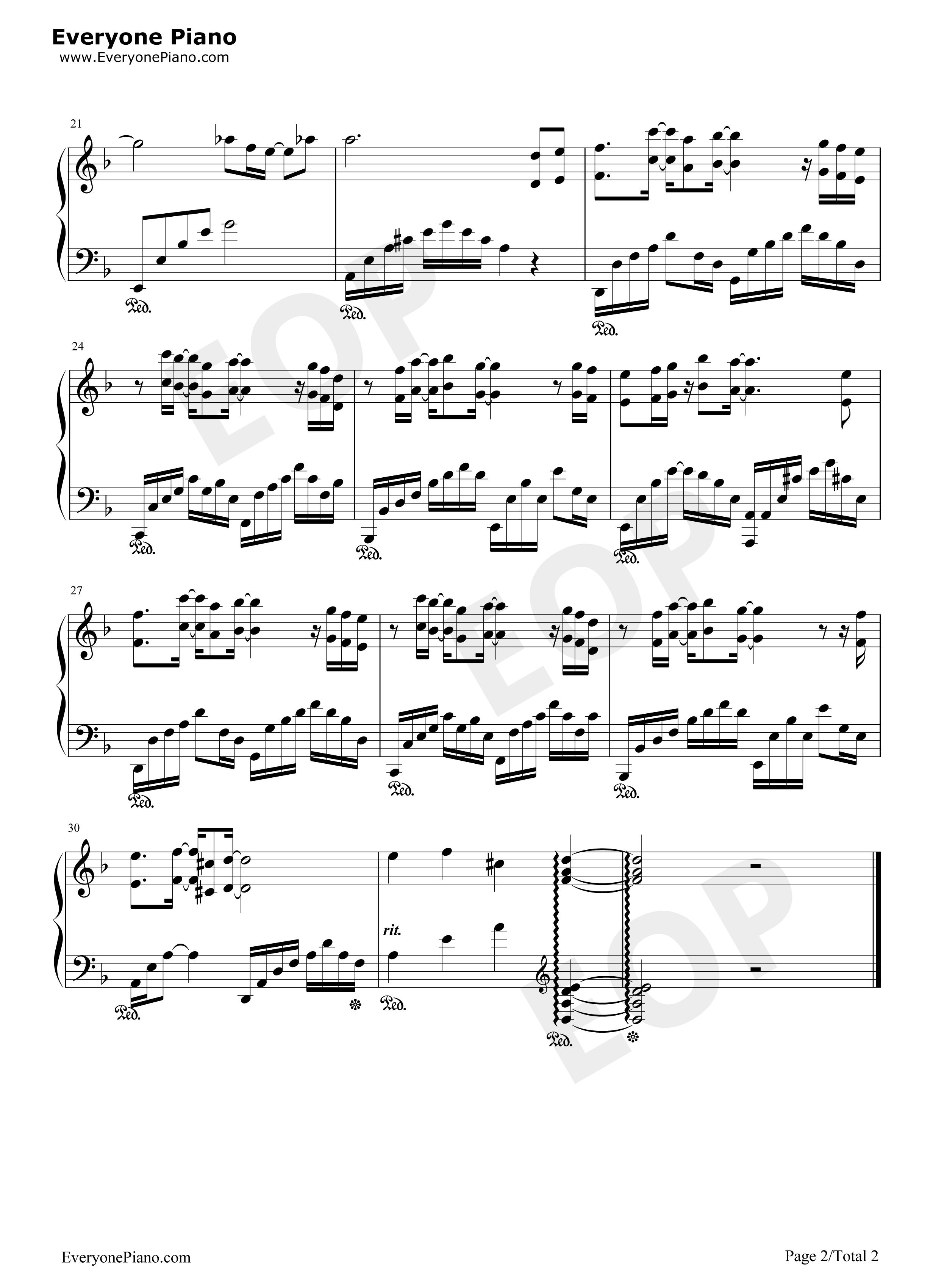 Song From A Secret Garden Piano Sheet Download K Drama Sheet Music Secret Garden Ost