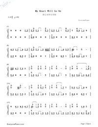 My Heart Will Go On-Perfect Version-Titanic Theme-Numbered-Musical-Notation-Preview-1