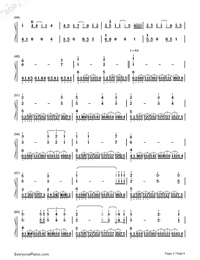 My Heart Will Go On-Perfect Version-Titanic Theme-Numbered-Musical-Notation-Preview-3