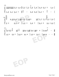 River Flows In You-Standard Edition Numbered Musical Notation Preview 3