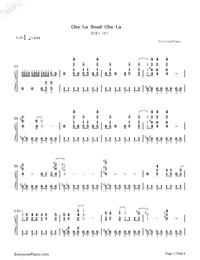 Cha-La Head-Cha-La-龍珠Z OP1雙手簡譜預覽1