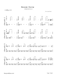 Masayume Chasing-Fairy Tail OP15-Numbered-Musical-Notation-Preview-1
