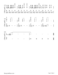 Masayume Chasing-Fairy Tail OP15-Numbered-Musical-Notation-Preview-3