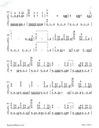 A Thousand Years-The Twilight Saga Breaking Dawn OST Numbered Musical Notation Preview 3