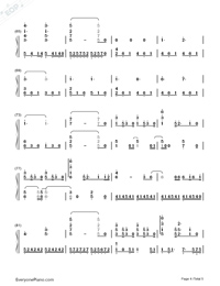 A Thousand Years-The Twilight Saga Breaking Dawn OST Numbered Musical Notation Preview 4
